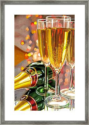Champagne Wishes Framed Print