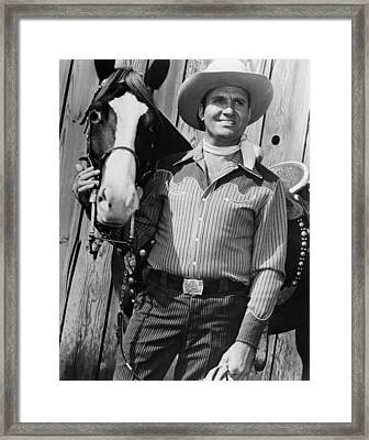 Champion And Gene Autry Framed Print