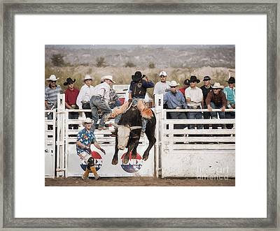 Framed Print featuring the photograph Champion Bull Rider by Marianne Jensen