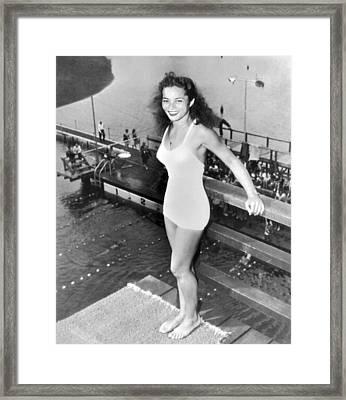 Champion Diver Vicki Draves Framed Print