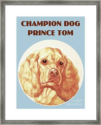 Champion Dog Prince Tom Framed Print