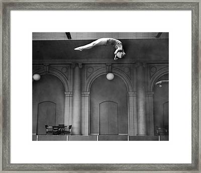Champion Helen Crlenkovich Framed Print by Underwood Archives