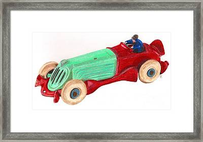 Champion Racer Framed Print by Glenda Zuckerman