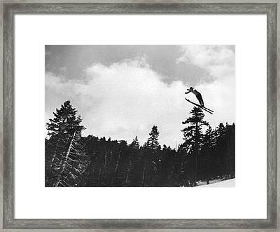 Champion Ski Jumper Framed Print