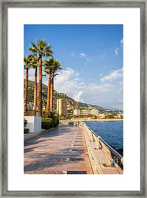 Champions Promenade In Monaco Framed Print by Elena Elisseeva