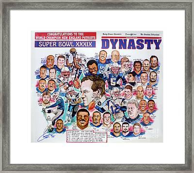 Championship Patriots Newspaper Poster Framed Print