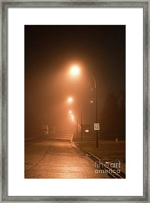 Champlain Court In The Mist Framed Print by Gary Chapple