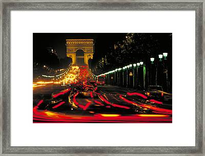 Champs Elysee In Paris Framed Print