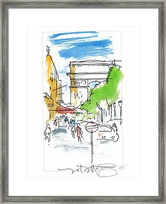 Champs Elysee Paris Framed Print