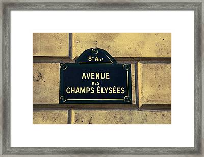 Champs Elysees Framed Print by Andrew Soundarajan
