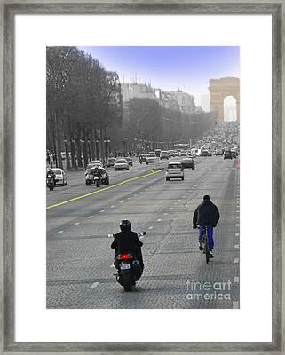 Champs Elysees II Framed Print by Al Bourassa