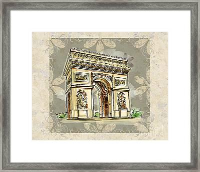 Champs Elysees Paris Framed Print by Bedros Awak
