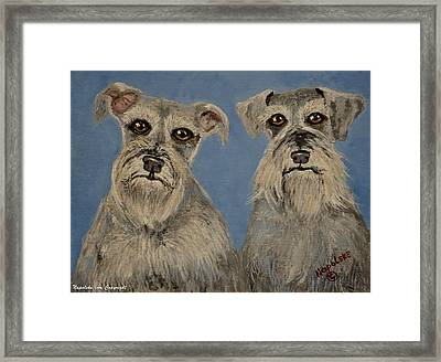 Chance And Lacy Framed Print
