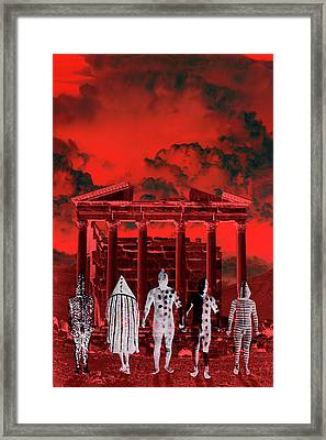 Chance Encounter In The City Of The Dead Framed Print by Mark Myers