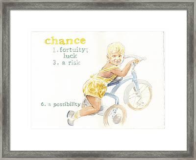Chance Framed Print by Janice Crow