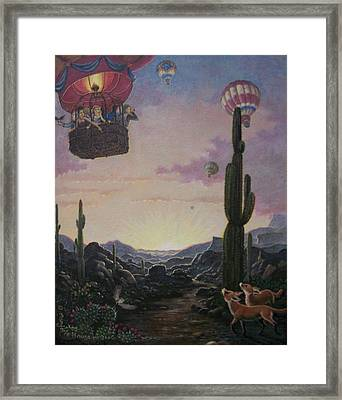 Chance Meeting  Framed Print by Marjorie Hause