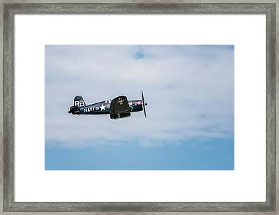 Chance Vought F4u-4 Corsair Framed Print