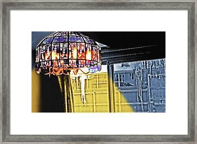 Chandelier - Warm Glow Framed Print