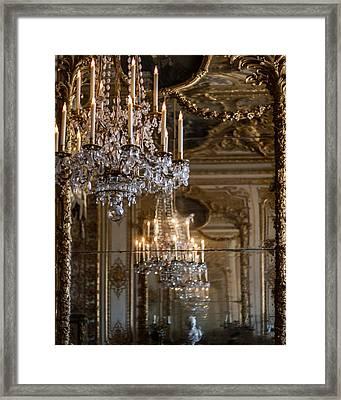 Chandelier At Versailles Framed Print
