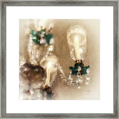 Chandelier At Winterthur Framed Print by Lois Bryan
