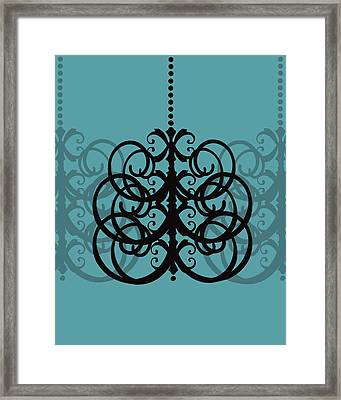 Framed Print featuring the photograph Chandelier Delight 2- Blue Background by KayeCee Spain