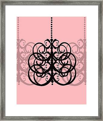 Framed Print featuring the photograph Chandelier Delight 2- Pink Background by KayeCee Spain
