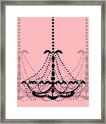 Framed Print featuring the photograph Chandelier Delight 3- Pink Background by KayeCee Spain
