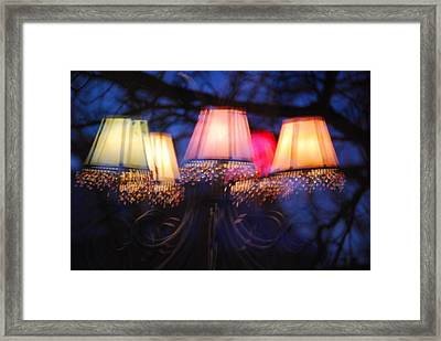 Chandelier In The Trees Framed Print by Peter  McIntosh