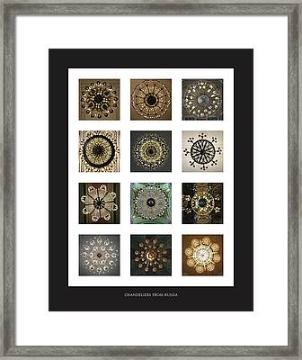 Collection Poster Chandeliers From Russia Framed Print