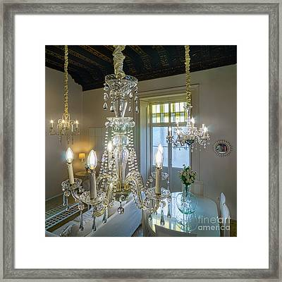 Framed Print featuring the photograph Chandeliers Transatlantic Company Delegation Cadiz Spain by Pablo Avanzini