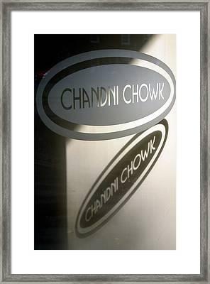 Chandi Chowk Framed Print by Jez C Self