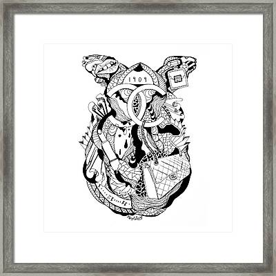 Chanel Abstract Drawing Framed Print by Kenal Louis