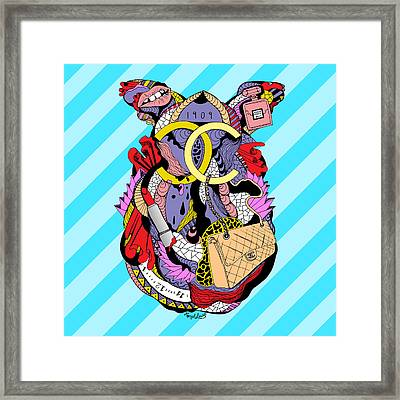 Chanel Abstract Fashion Framed Print by Kenal Louis