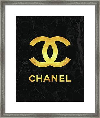 Chanel - Black And Gold Framed Print
