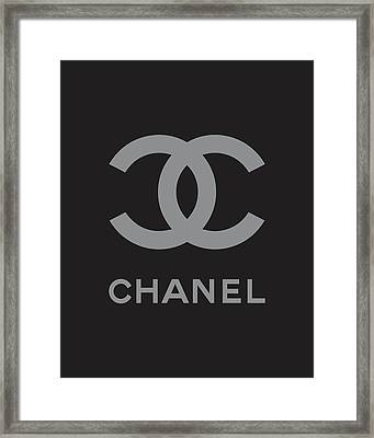 Chanel - Black And Grey Framed Print