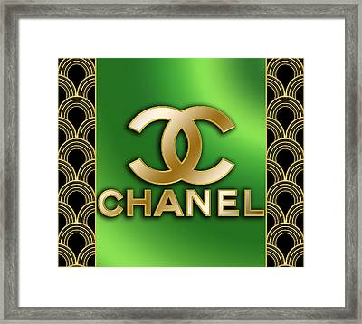 Framed Print featuring the digital art Chanel - Chuck Staley by Chuck Staley