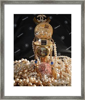 Chanel Coco And  Egg 2 Framed Print by To-Tam Gerwe