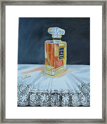 Chanel Coco With Lace Framed Print by To-Tam Gerwe
