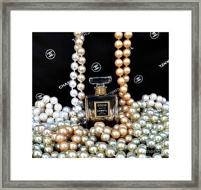 Chanel Coco With Pearls Framed Print by To-Tam Gerwe