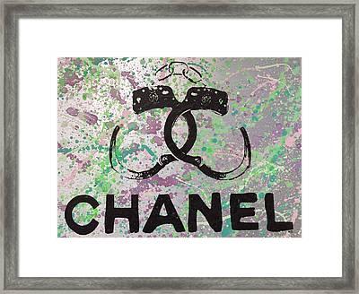 Chanel Handcuffs Framed Print