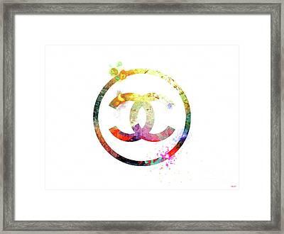 Chanel Logo Framed Print