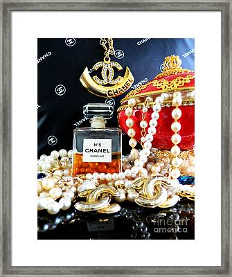 Chanel No 5 And Egg 2 Framed Print by To-Tam Gerwe