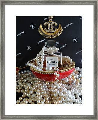Chanel No 5 And Egg Framed Print by To-Tam Gerwe