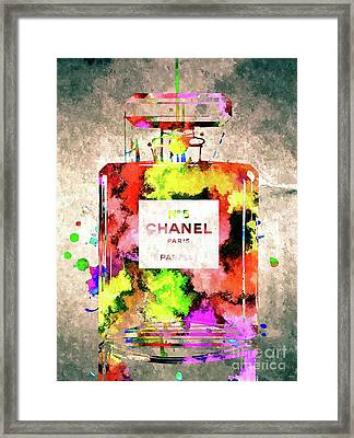 Chanel No 5 Framed Print by Daniel Janda