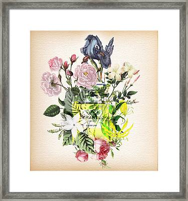 Chanel No. 5 Fragrance Notes 3 Framed Print by Diana Van