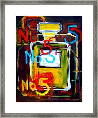 Chanel No. 5 Framed Print