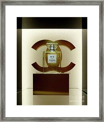Chanel No 5 L'eau 3 Framed Print by To-Tam Gerwe