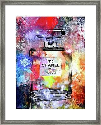 Chanel No. 5 Painted Framed Print by Daniel Janda