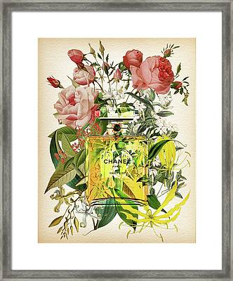 Chanel No. 5 Perfume Notes 2 Framed Print by Diana Van