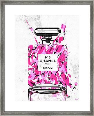 Chanel No. 5 Pink Army Framed Print by Daniel Janda